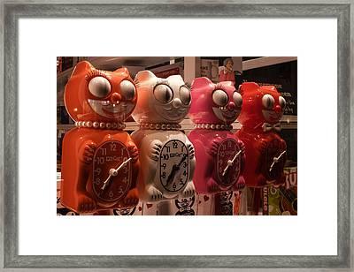 Cuatro Gatos Framed Print
