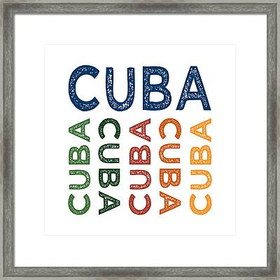 Cuba Cute Colorful Framed Print