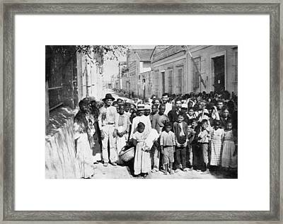 Cuba Food Relief, C1898 Framed Print by Granger