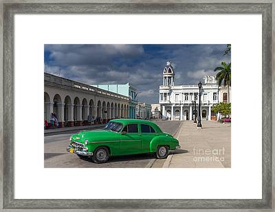 Framed Print featuring the photograph Cuba Green  by Juergen Klust
