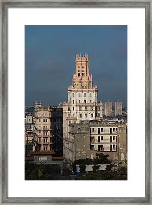 Cuba, Havana, Central Havana, Etecsa Framed Print by Walter Bibikow