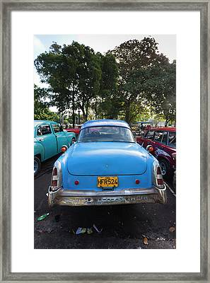 Cuba, Havana, Central Havana, Parque De Framed Print by Walter Bibikow