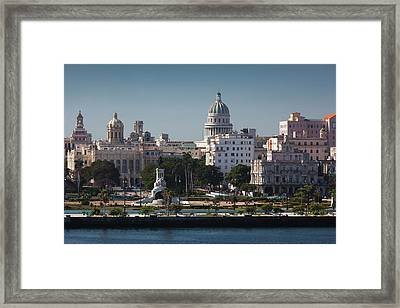 Cuba, Havana, Elevated City View Framed Print by Walter Bibikow