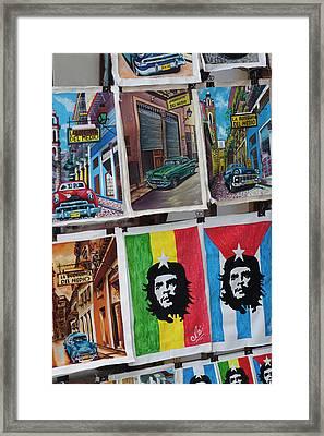 Cuba, Havana, Havana Vieja, Centro Framed Print by Walter Bibikow