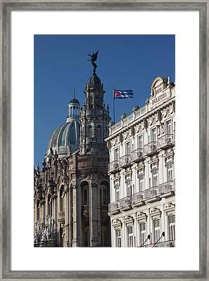 Cuba, Havana, Havana Vieja, Dome Framed Print by Walter Bibikow