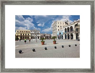 Cuba, Havana, Havana Vieja, Plaza Vieja Framed Print by Walter Bibikow