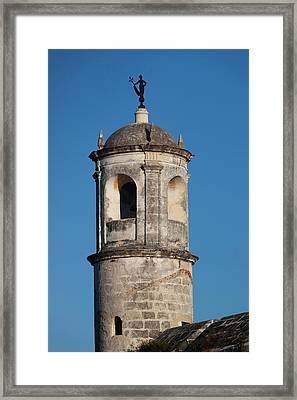 Cuba, Havana, Havana Vieja, Tower Framed Print by Walter Bibikow