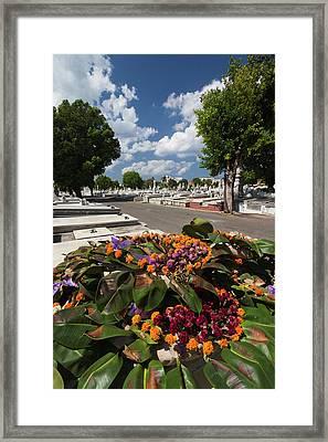 Cuba, Havana, Vedado, Necropolis Framed Print