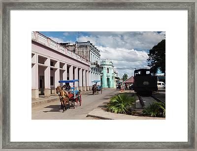 Cuba, Matanzas Province, Colon, Horse Framed Print by Walter Bibikow