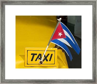 Cuba Taxi Framed Print by Norman Pogson