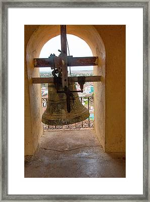 Cuba, Trinidad Bell In Tower Framed Print by Emily Wilson
