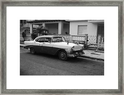 Cuban Car Framed Print by Norman Pogson