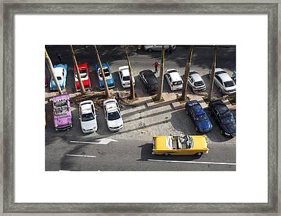 Cuban Classic American Cars Framed Print by Norman Pogson