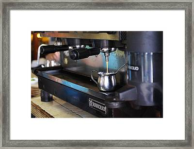 Cuban Coffee Framed Print by Andres LaBrada