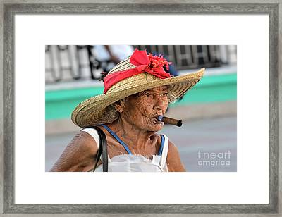 Cuban Lady Framed Print by Jola Martysz