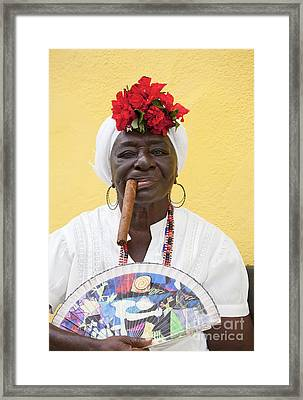 Cuban Lady Two Framed Print