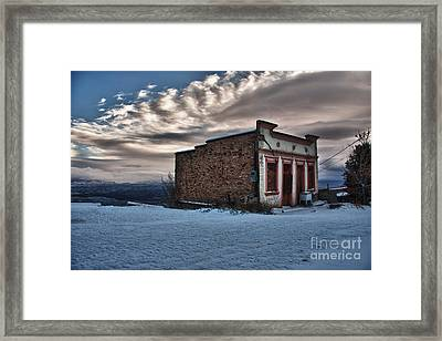 Framed Print featuring the photograph Cuban Queen Bordello In Jerome Arizona by Ron Chilston