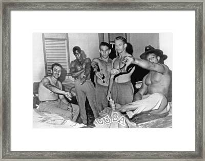 Cuban Team Defects Framed Print by Underwood Archives