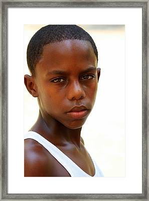 Cuban Youngster Framed Print