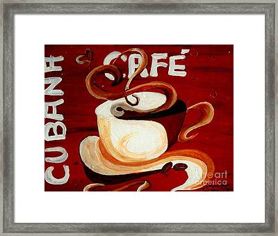 Cubana Cafe Framed Print