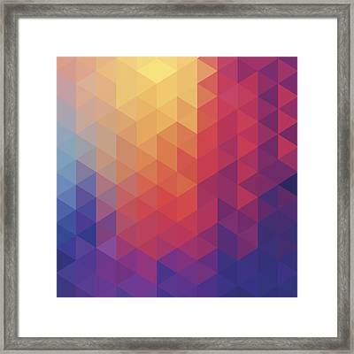 Cube Diamond Abstract Background Framed Print by Mustafahacalaki