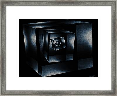 Cube In Cube Framed Print by Ramon Martinez