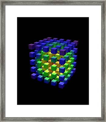Framed Print featuring the digital art Cube Of Cubes... by Tim Fillingim