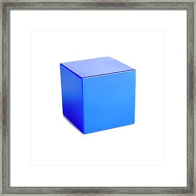 Cube Framed Print by Science Photo Library