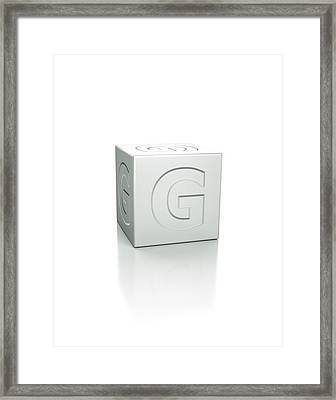 Cube With The Letter G Embossed Framed Print by David Parker/science Photo Library
