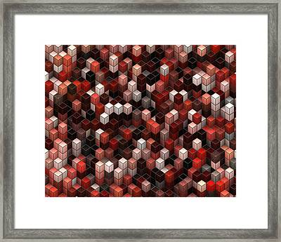 Cubed Again Framed Print by Jack Zulli