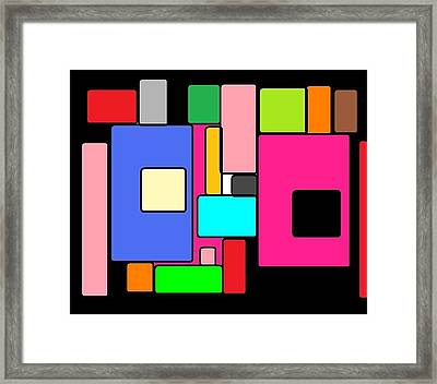 Cubes 67 Framed Print