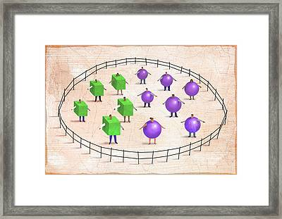 Cubes And Spheres Framed Print