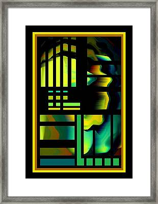 Cubes Framed Print by Steve Godleski
