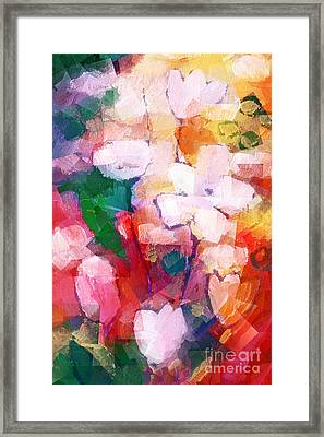 Cubic Flowers Framed Print by Lutz Baar