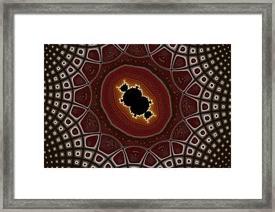 Cubic In Deformed Grid Framed Print by Mark Eggleston