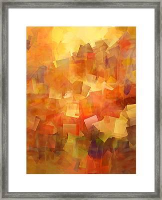 Cubic Lightbreak Framed Print