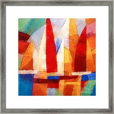 Cubic Maritime Framed Print