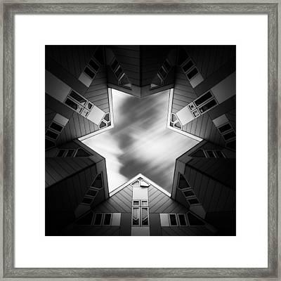 Cubic Star Framed Print