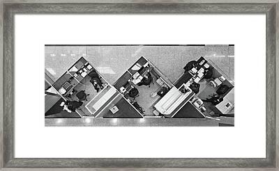 Cubicle Life Framed Print by Vincent Kohar