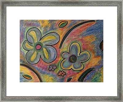 Cubism Flowers 2.3 Framed Print by Lois Picasso