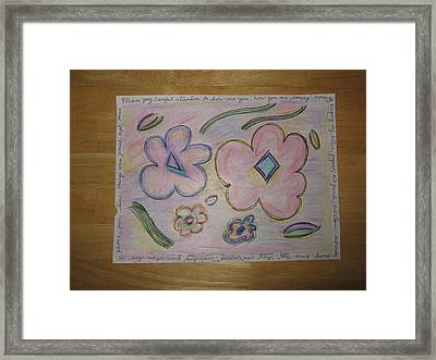 Cubism Flowers 4 Framed Print by Lois Picasso