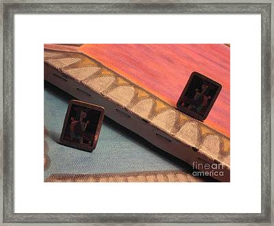 Cubist Animal Harlequin Earrings In Chair Framed Print by Lois Picasso