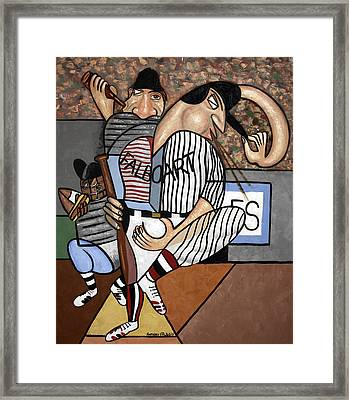 Cubist Baseball Framed Print by Anthony Falbo