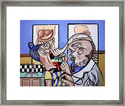 Cubist Doctor Md Framed Print by Anthony Falbo