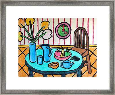 Cubist Lunch Framed Print
