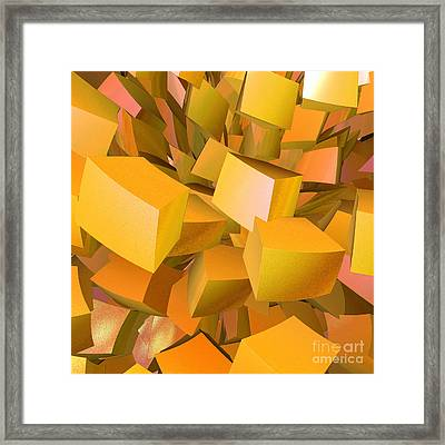 Cubist Melon Burst By Jammer Framed Print