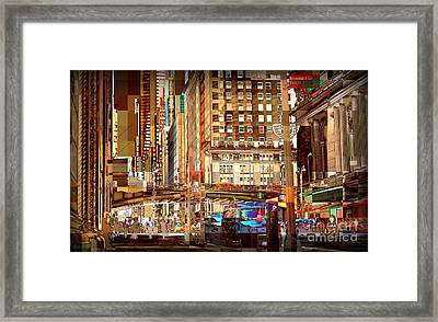 Grand Central And 42nd St Framed Print by Miriam Danar