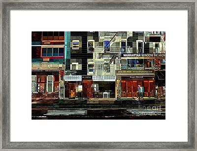 Shops Framed Print by Miriam Danar