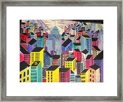 Cubist New York Framed Print by James Dolan
