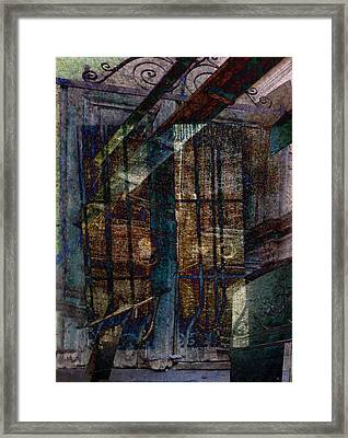 Cubist Shutters Doors And Windows Framed Print by Sarah Vernon